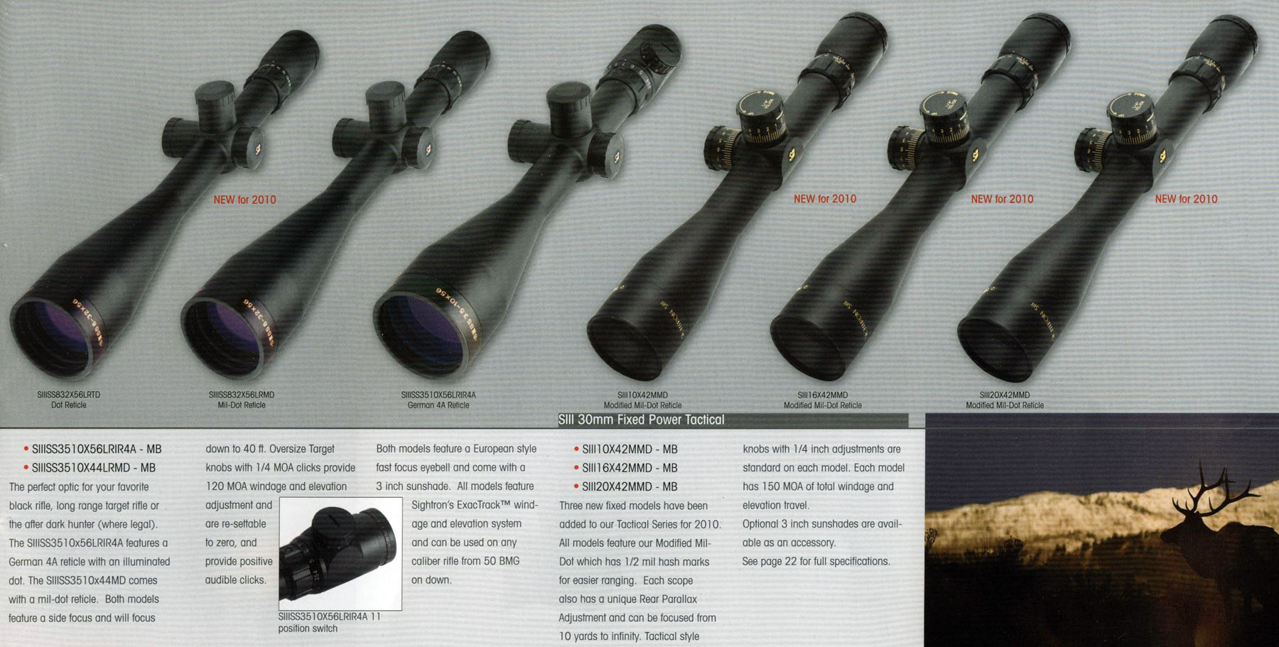 New Sightron SIII Tactical Scopes